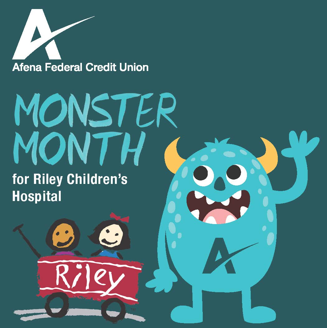 Afena Federal Credit Union Monster Month for Riley Children's Hospital