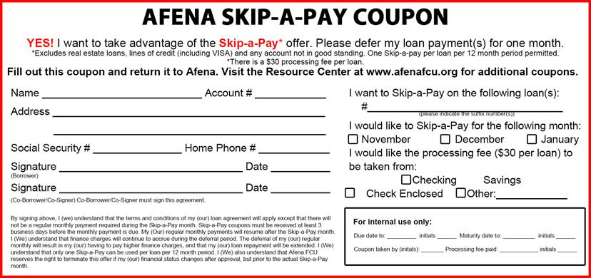 Skip-A-Pay coupon